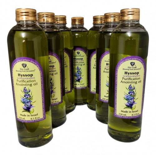 7 pcs Anointing Oil Ein Gedi Blessing from Jerusalem - Hyssop - HolyLand 250 ml