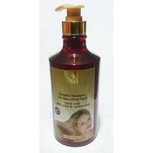 H&B Dead Sea Keratin Shampoo for Smoothed Hair 780ml