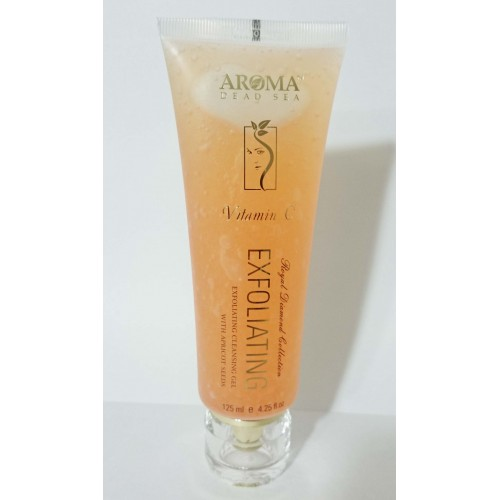 Aroma Dead Sea Vitamin C Exfoliating Cleansing Gel with Apricot Seeds 125ml