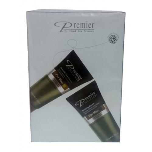 Premier Dead Sea Pour Homme Shave & Cleanse Kit for Men: Shaving Cream and Face Cleanser