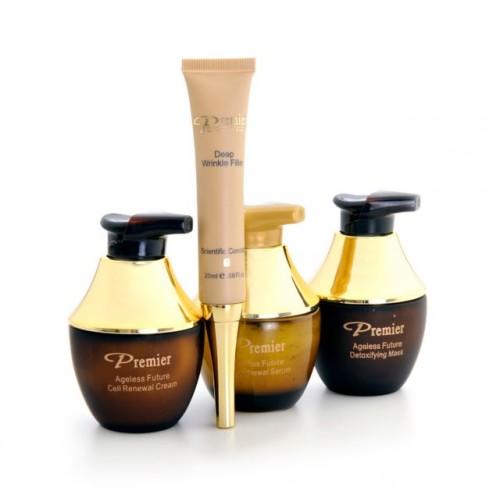 Dead Sea Premier Ageless Future Kit - Cream,Serum,Mask,Filler