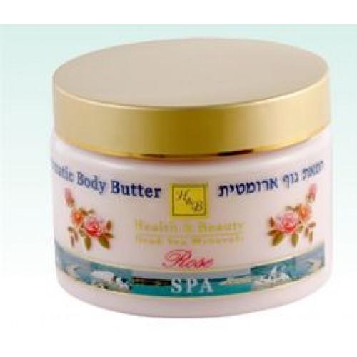 H&B Dead Sea Aromatic Body Butter Rose 350ml