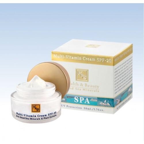 H&B Dead Sea Multi-Vitamin Cream SPF-20 50ml/1.76 fl. oz.