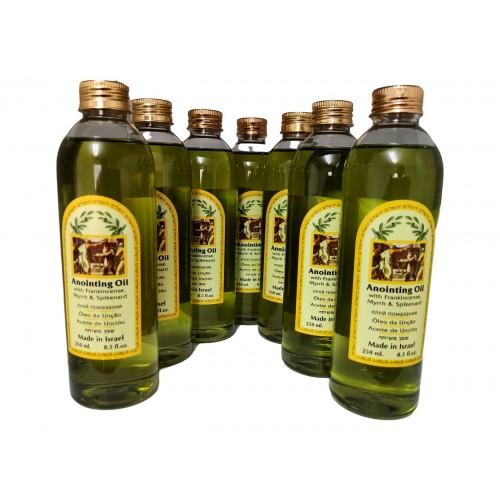 7 pcs Ein Gedi Anointing Oil Blessing Jerusalem-Frankincense,Myrrh & Spikenard HolyLand 250 ml
